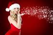 Schöne Weihnachtsfrau