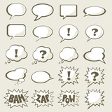 Set of vector speech bubble with space for your text