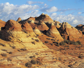 Sandstone formations in desert