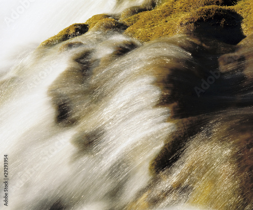 Water flowing in creek