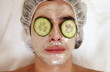 Man having a facial treatment in a spa