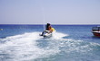 Young couple on jetski