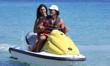 Young couple on jetski