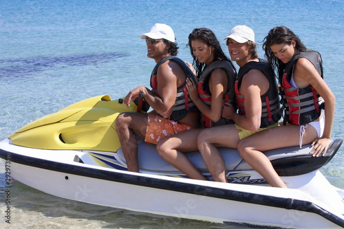 Two couples on jetski