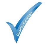 qualité certifiée validé bleu poster