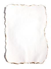 Burned sheet of paper