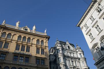 Vienna Austria Old city houses