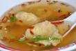 soupe chinoise raviolis et crevettes