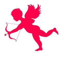 Cupidon décochant une flèche