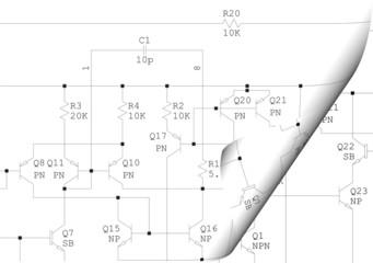 Electric engineering diagram drawing