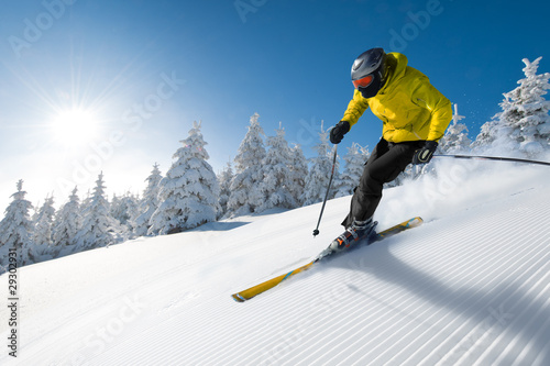skier in mountains - 29302931