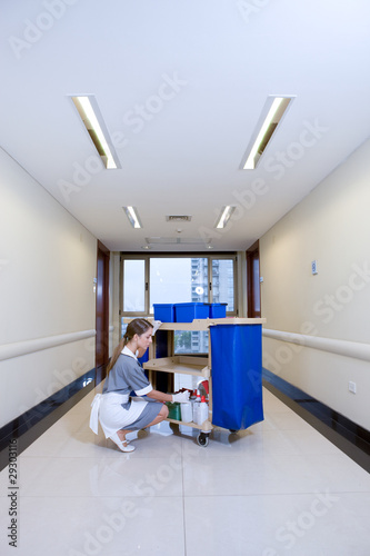 A hospital cleaner