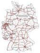 Deutschland mit Autobahnen tranzparent
