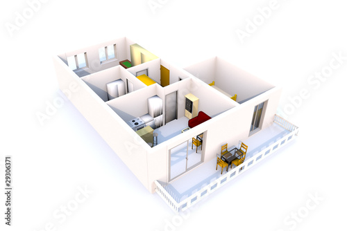 3D Apartment architecture