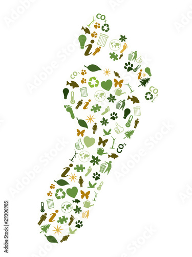 """FOOTPRINT"" collage (renewable energy green environmentally)"