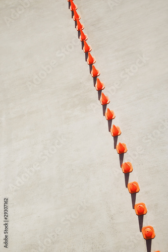 Row of traffic cones
