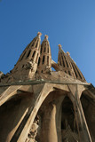Sagrada Familia - amazing cathedral by Gaudi. Barcelona Spain