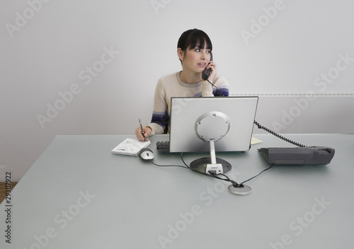 Businesswoman on telephone in an office