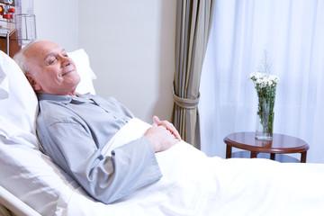 Elderly in bed