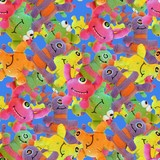 Fuzzy little monsters wallpaper poster