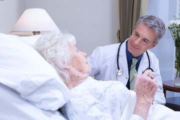 Doctor with a senior patient
