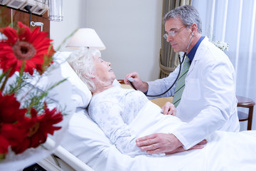 Doctor visiting senior patient
