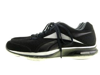 black sports shoes isolated on white
