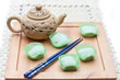 tea with asian sweets