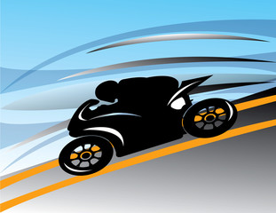 abstract motorcycle track vector illustration speed