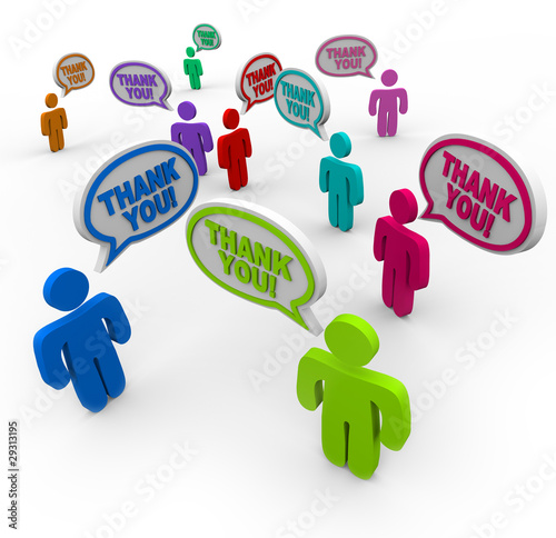 Thank You - Appreciative People Thanking Each Other