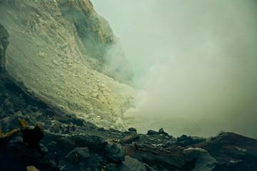 Индонезия, вулкан Иджен, Indonesia, volcano of Ijen