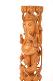 Deity god of wisdom and prosperity Ganesha from India poster