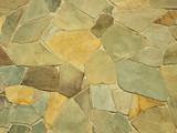 Pale pastel stonework - irregular mosaic background poster