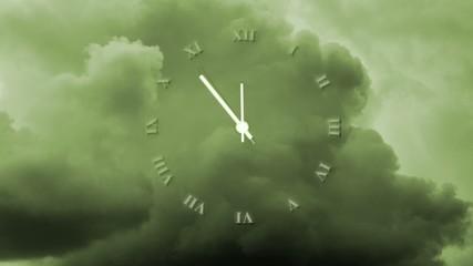 Uhr - 5 vor 12 - klimawandel - Wolken
