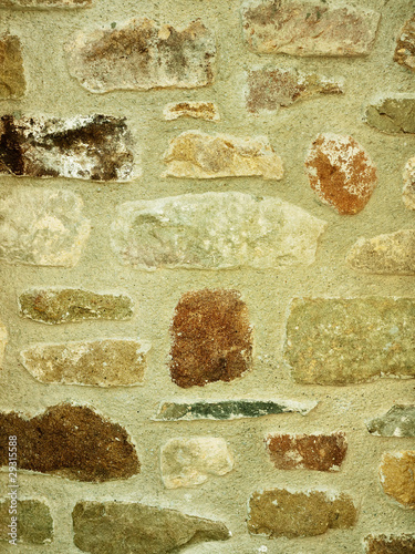 Wall of many textures - assorted stones