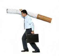 El vicio del tabaco.