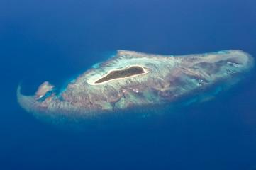 Ile vue du ciel - Nouvelle Calédonie
