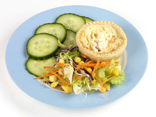 Quiche Lorraine with Salad