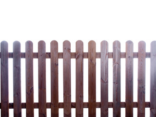 wooden fence isolated on white background