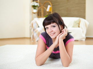 girl relaxing at home
