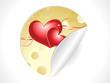 abstract valentine sticker