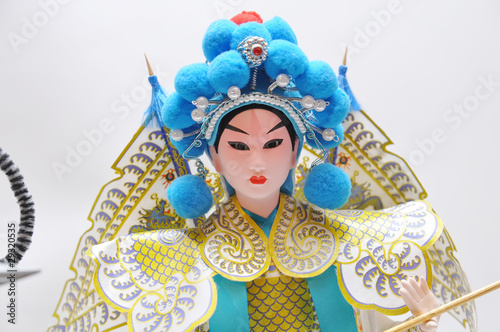 peking opera doll close up