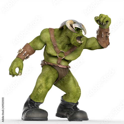 ogre wants to fight