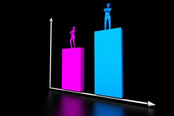 Grafico comparativo donna uomo