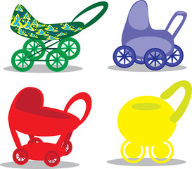 Set children's prams