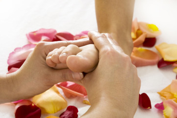 Fussmassage-Wellness