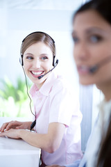 Women at a call center