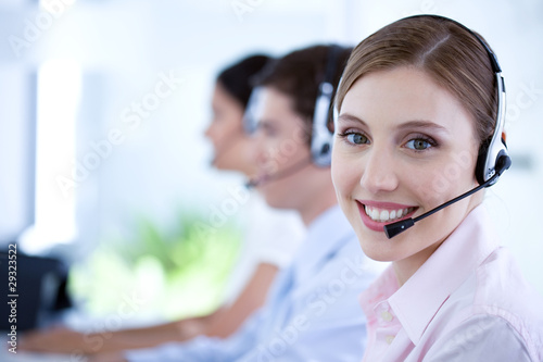 At a call center