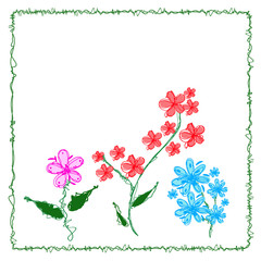 Swirly flowers