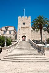 Gate tower Big Revelin in Korcula